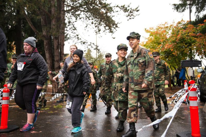 COURTESY OF FREEZE FRAME PHOTOGRAPHY - Uniformed youth in the Young Marines participate along with others in last year's Regatta Run 5K.