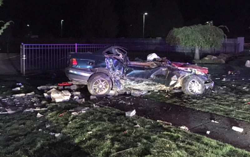 What's left of the car Pedro Hernandez Jr. died in during a chase Sept. 23 that started in Canby and ended in Woodburn.