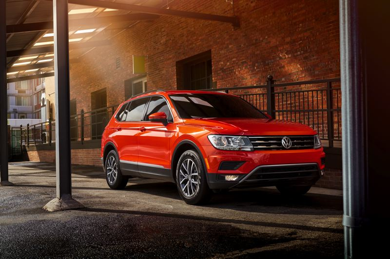 VOLKSWAGEN OF AMERICA - The completely redesigned 2018 VW Tiguan is significantly larger than last year's model and drives like it. The ride is more comfortable and a push buttom Sport mode improves accelaration.