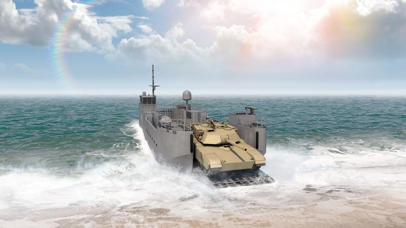 RENDERING: VIGOR/US ARMY - Vigor will build the Army's new Maneuver Support Vessel (Light) for moving tanks and troops.