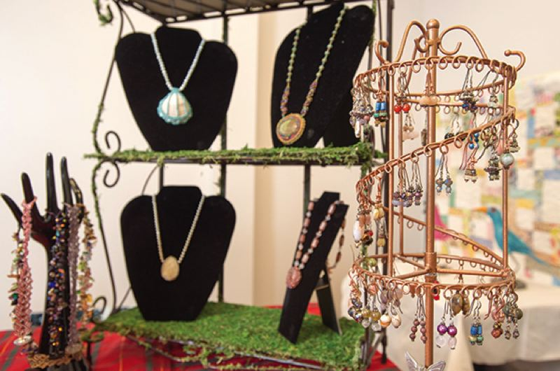 OUTLOOK FILE PHOTO - Handcrafted jewelry is always a winner when purchasing a gift for that hard-to-buy-for friend or relative. See what's trending this year at one of several craft and holiday shows that kick off the Harvest Bazaar season this weekend.