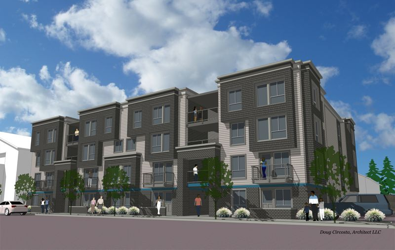 COURTESY CENTRAL CITY CONCERN - Construction is already underway on the Charlotte B. Rutherford Place at 6905 N. Interstate Ave. to support the city's North/Northeast Neighborhood Housing Strategy to help displaced residents return to their communities. Ground was broken on the $10.8 million project on Aug. 3.