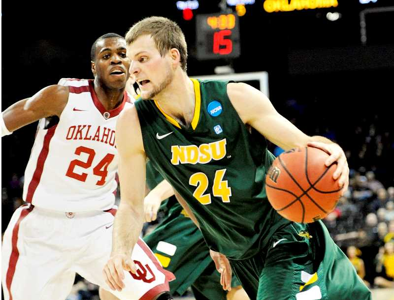 PHOTO COURTESY OF NDSU - Former Newberg High School and North Dakota State University basketball star Taylor Braun signed a training camp deal with the NBA's Utah Jazz, according a team release posted Sept. 26. Most recently, Braun played for Ratiopharm Ulm of the German Bundesliga, where he averaged 8.0 points, 3.8 rebounds and 1.6 assists in 53 games (50 starts) during the 2016-2017 season.
