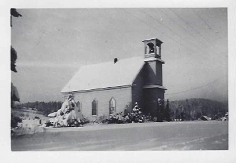 COURTESY PHOTO - The original Laurel Church building in 1897.