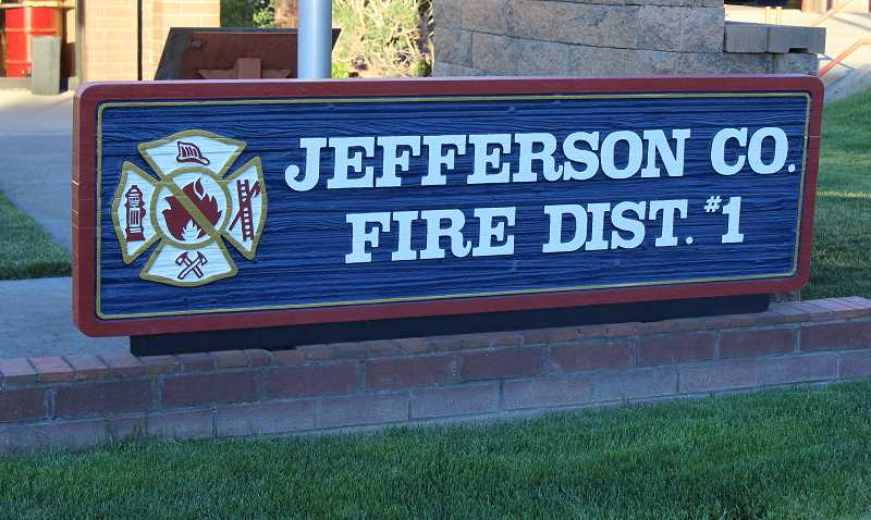 HOLLY M. GILL - The Jefferson County Fire Department responded to a railroad tie fire Sept. 25; the fire burned several ties and is under investigation.