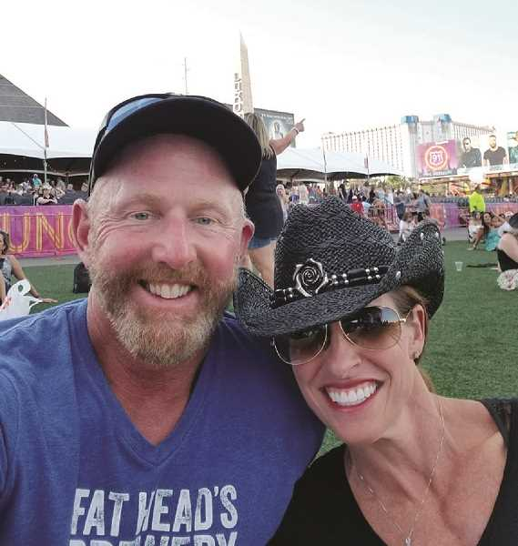 COURTESY PHOTO - Hillsboro resident Sherri Bromagem and her husband David were at the Route 91 music festival, but left a few minutes before Sundays shooting.