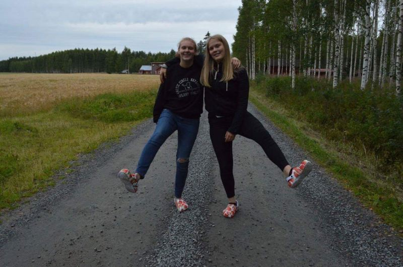 "COURTESY OF MAGGIE WARD - Maggie Ward, left, poses with her Finnish host sister, whom she now refers to as her ""best friend in Finland."""