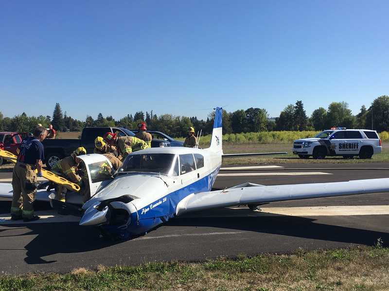 WASHINGTON COUNTY SHERIFF'S OFFICE - A small plane carrying a student and instructor crashed on Thursday afternoon near Farmington.