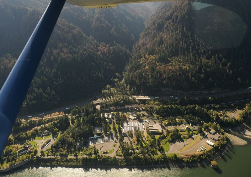 OUTLOOK PHOTO: JOSH KULLA - The Bonneville Fish Hatchery was temporarily closed during the onset of the Eagle Creek Wildfire.