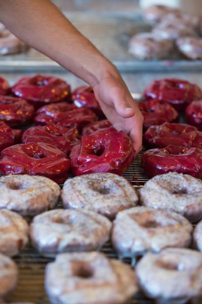 FILE - Blue Star Donuts serves up flavors you won't find in other doughnut shops. The company calls its products 'Donuts for Grownups.'