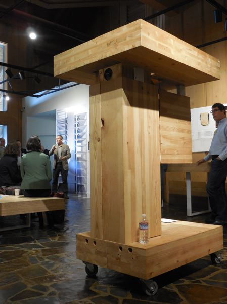 PAMPLIN MDEIA GROUP: JOSEPH GALLIVAN  - A mass timber beam at the World Forestry Center.