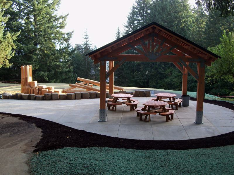 COURTESY OF THE CITY OF TIGARD - Bull Mountain Park has a newly constructed picnic shelter.