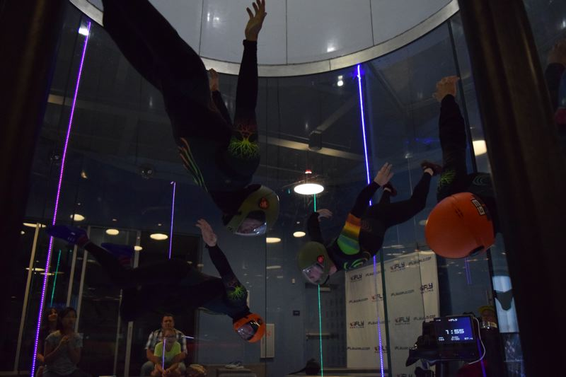 COURTESY PHOTO - The sport of Indoor skydiving, or bodyflight, is catching on with the opening of wind tunnel centers, such as iFly in Tigard. Team Prana Vayu is representing Portland in the upcoming world championships of indoor skydiving.