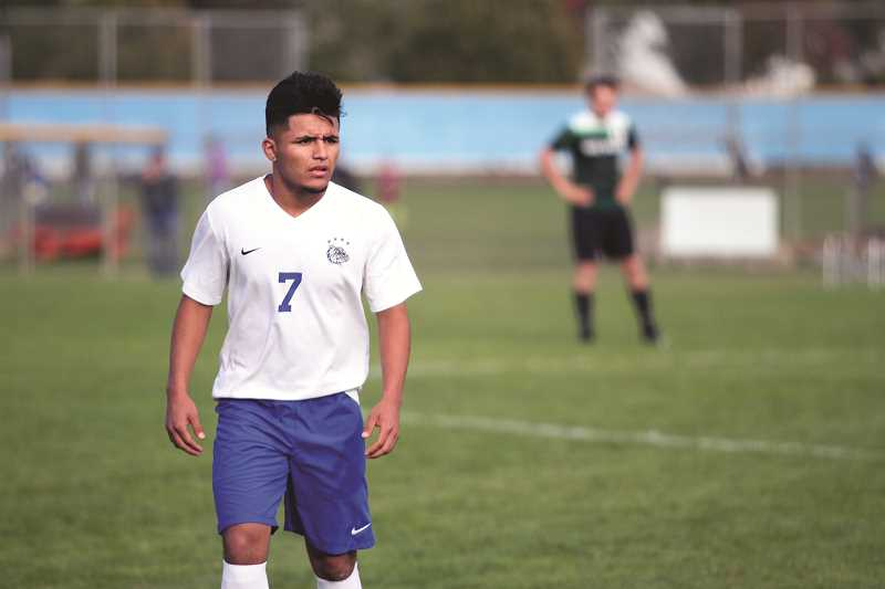 PHIL HAWKINS - Woodburn junior Jesus Rodriguez scored four goals in the first 29 minutes of Woodburn's 6-3 victory over the West Salem Titans on Saturday.