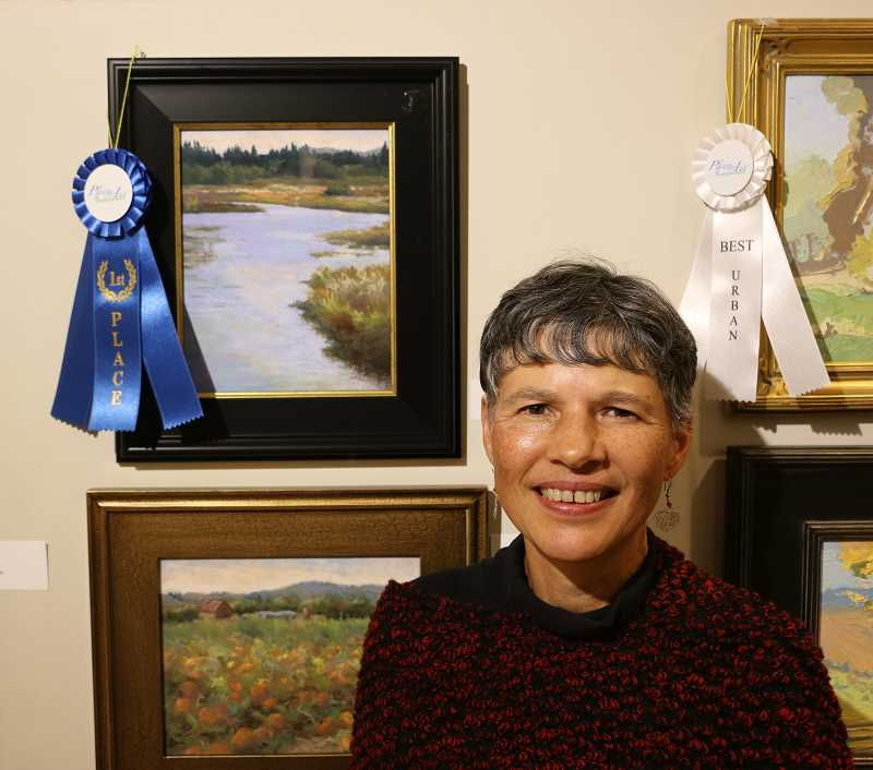 COURTESY PHOTO - Paula Hansen won best overall painting with 'Serenity.'