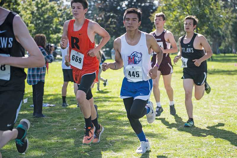 LON AUSTIN/FOR THE PIONEER - Madras fielded a total of 23 athletes — 17 boys and six girls — at Bend's Oxford Classic last Friday.