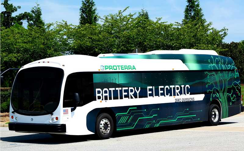 SUBMITTED PHOTO - The two buses will be 35-foot battery-powered electric buses built by Portera.