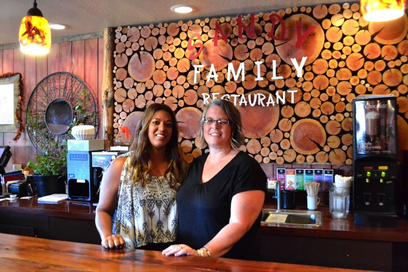 POST PHOTO: BRITTANY ALLEN - Sandy Family Restaurant/Ria's Bar owner Ria Brower and Restaurant Manager Dana Richardson.
