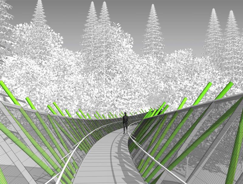 COURTESY: PORTLAND PARKS FOUNDATION - Construction of the bridge is expected by fall 2018.