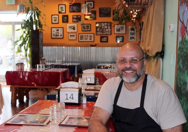 TIMES PHOTO: MANDY FEDER-SAWYER - Samuel Vazquez, proprietor of Borikén Restaurant, is trying to get help to his father-in-law in the aftermath of Hurricane Maria in Puerto Rico.