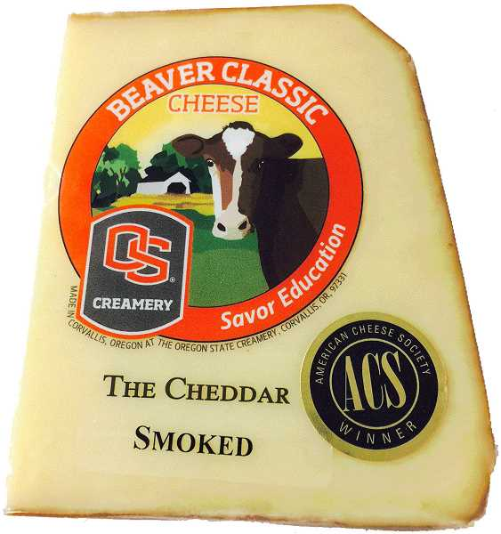 SUBMITTED PHOTOS: OREGON STATE UNIVERSITY - Beaver Classic smoked cheddar is an ingredient needed for Randalls recipe this week. Order the cheese from OSU.