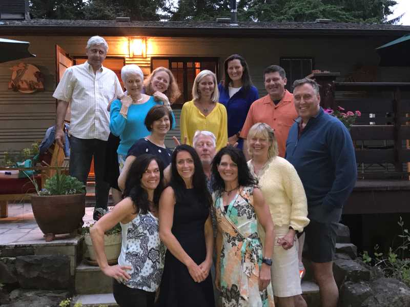 SUBMITTED PHOTO: TERESA WYMETALEK - A few times a year, the fitness group gets together for soup night at the Mike Cavanaughs house.