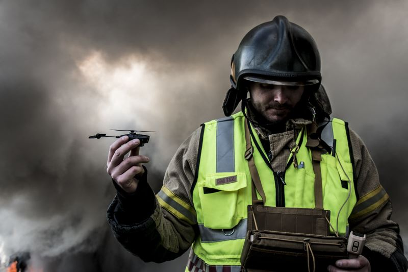 COURTESY: FLIR SYSTEMS - Firefighters can use the IR camera for seeing hot spots in smoke and darkness.