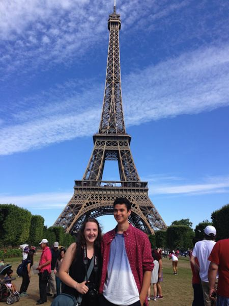 CONTRIBUTED PHOTO - Gretta Mobley and Logan Green at the Eiffel Tower.