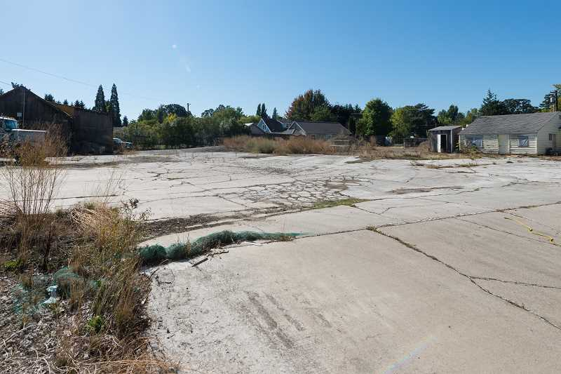 NEWS-TIMES PHOTO: CHRISTOPHER OERTELL - The old Van Doren Red-E-Mix site on Main Street and 26th Avenue will likely be replaced with apartments, though not anytime soon.