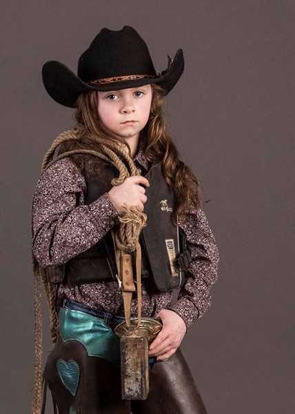 PHOTO COURTESY OF KATIE LYNN - RODNEY EVANS / ZYE IMAGES - Elise Anca, a third grader at Mulino Elementary School, will compete in International Miniature Bullrider's Association World Finals Oct. 12-14 in Oklahoma