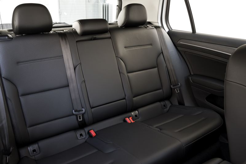 VOLKSWAGEN OF AMERICA - Like all Golfs, the back seat in the electric version is large enough for three adults.