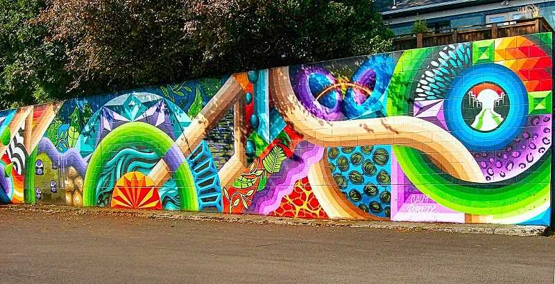 RITA A. LEONARD - This mural by local artist Dominic Sigari appeared at S.E. 13th and Pershing in September.