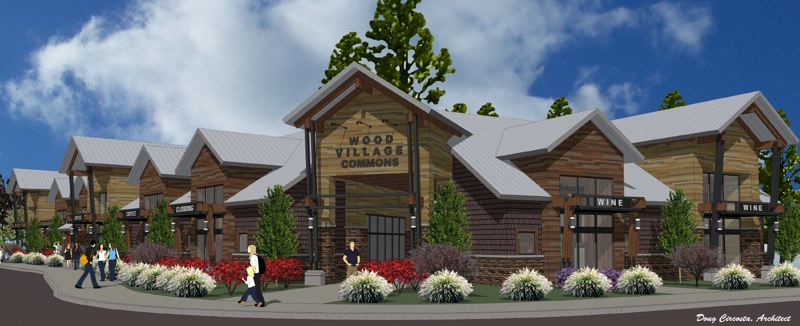 COURTESY GRAPHIC - Builders hope to attract a child-care provider, bank or credit union, coffee shop and urgent care facility to the proposed multi-use retail shopping center in Wood Village.