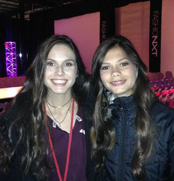 CONTRIBUTED PHOTO - Kendall (left) and Carly (right) Shanklin are shown here after the first day of FashioNXT.