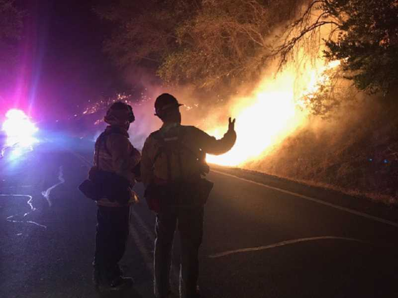 COURTESY PHOTO - Washington County sent two strike teams down to fight fires in California, including rigs and firefighters from Banks, Cornelius, Forest Grove and Gaston.