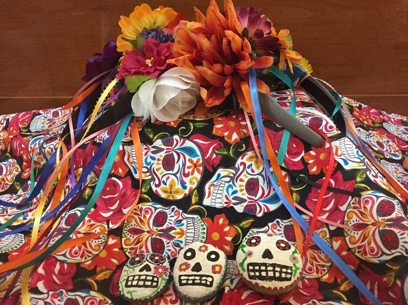 ESTACADA NEWS PHOTO: EMILY LINDSTRAND - The Estacada library will host a DÃ•a de los Muertos celebration, complete with traditional skulls, later this month.