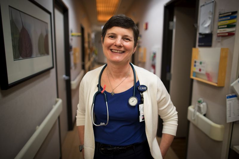 TIMES PHOTO: JAIME VALDEZ - While state Sen. Elizabeth Steiner Hayward is not in session, she resumes working as a family practitioner at OHSU Family Medicine, Gabriel Park.