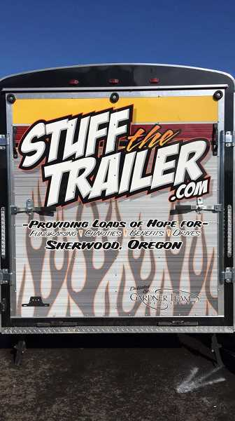 SUBMITTED PHOTO - The annual Stuff the Trailer event is set for this Friday. The  event will be held at the Cancer Awareness Game at Sherwood High School.