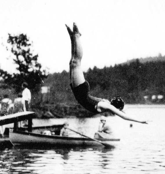SUBMITTED PHOTO - Lake Oswego resident Ann Schukart was the inspiration for the Red Diving Girl logo that Jantzen Knitting Mills used to promote its swimwear.