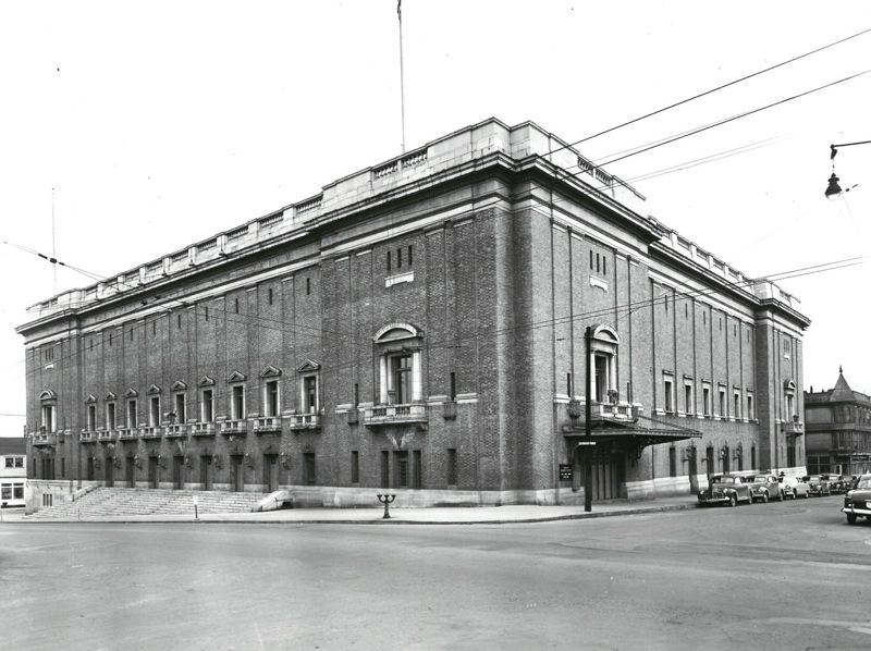 COURTESY: OREGON HISTORICAL SOCIETY  - The building was constructed in 1917 for $600,000. Many famous acts have passed through the venue since, including Led Zeppelin in 1968.