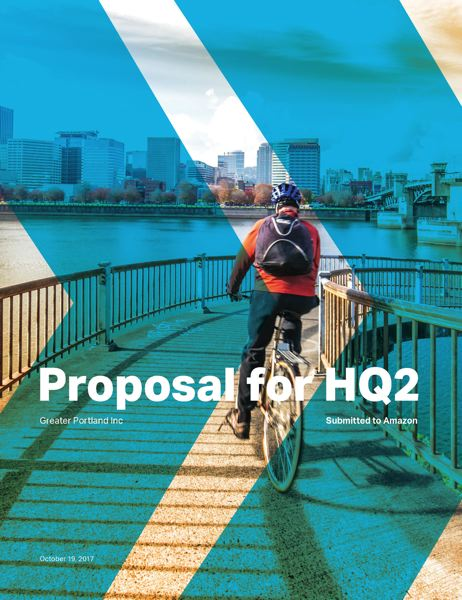 CONTRIBUTED GPI - The cover of the regional proposal submitted to Amazon for its second hedquaeters.