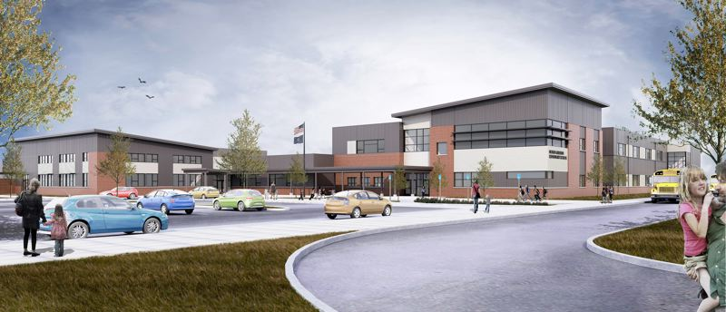 BBT ARCHITECTS - The new North Elementary School will be a two-story building with a dramatic entrace to welcome students, their families and community.