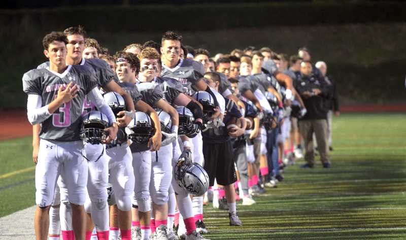SPOKESMAN PHOTO: TANNER RUSS - The Wilsonville football team and the other sports teams will have to contend with Scappoose in place of exiting Sandy next year.