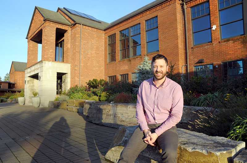 GARY ALLEN - Sean Andries spent his first dull day as executive director of the Chehalem Cultural Center on Monday.