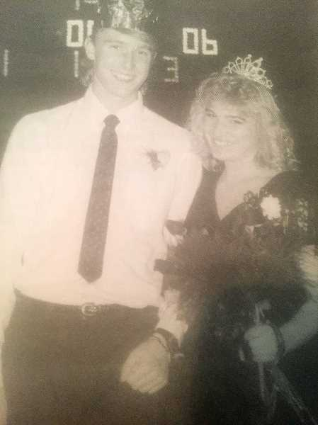 ARCHIVE PHOTO - Estacada High School Senior Missy Jones was crowned 1987 homecoming queen. She was escorted by senior Joe Baumgarte.
