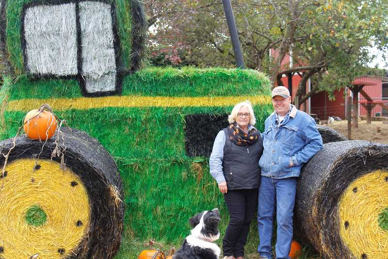 SPOKESMAN PHOTOS: COREY BUCHANAN - Jerry (right) and Marlene Rysers pumpkin patch is open throughout October.