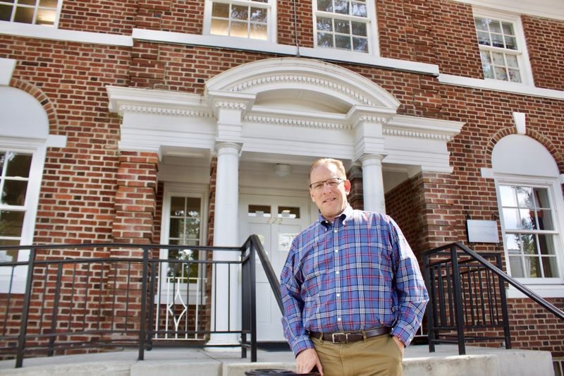 OUTLOOK PHOTO: CHRISTOPHER KEIZUR - Jeff Carr, CEO of Albertina Kerr, loves the history behind the Louise Home.