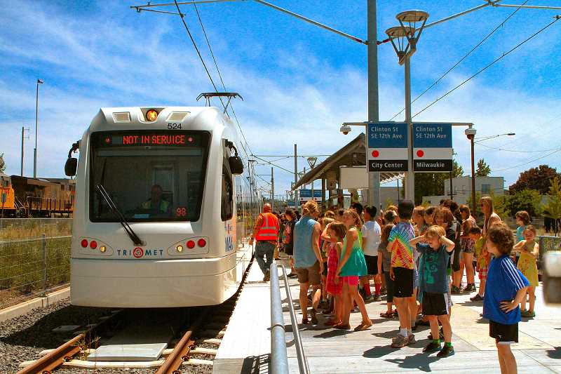 FILE PHOTO - The last light rail expansion carried passengers south to Milwaukie beginning in Sept. 2015. An extension of the Red Line to the Washington County Fair Complex could open as soon as 2021.