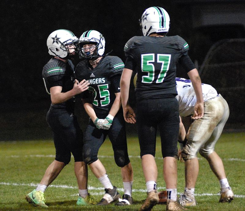 ESTACADA NEWS: MATT RAWLINGS - Estacada's Brandon Thornhill celebrates after sacking Astoria quarterback Trey Hageman