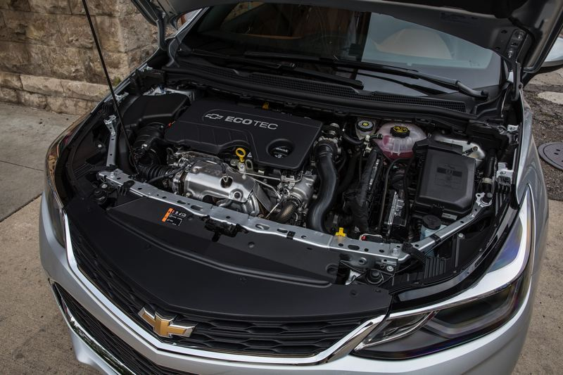 COURTESY CHEVY - The turbocharged 1.6-liter diesel in the 2018 Chevy Cruze Hatch gets up to 52 miles per gallon, making it the bighest mileage non-hybrid car on the market.
